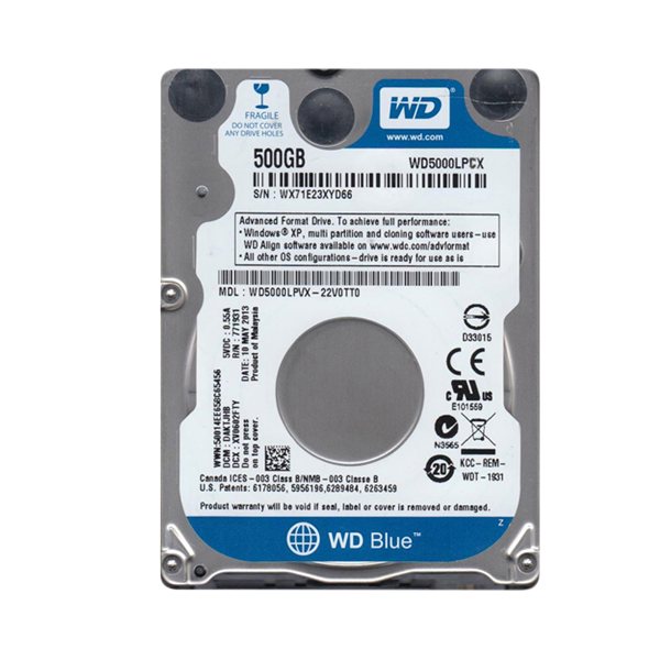 "2.5"" HDD SATA III 500GB 5400rpm 16MB Cache SCORPIO Blue"